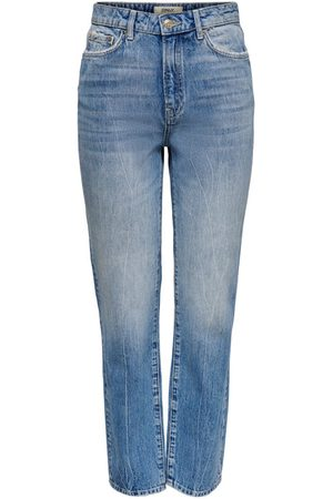 Only Dames Straight - Onlfine Hw Ankle Straight Fit Jeans Dames Blauw