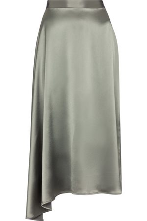 Deveaux New York Merel satin slip skirt