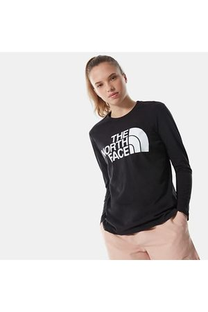 The North Face The North Face Standard T-shirt Met Lange Mouwen Voor Dames Tnf Black Größe L Dame
