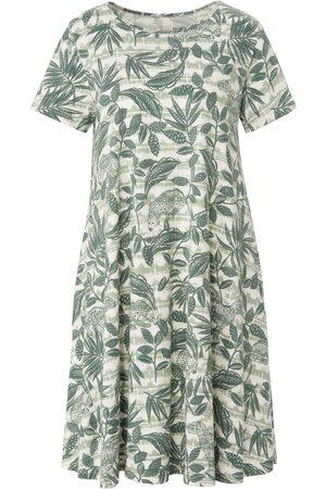 Green Cotton Jerseyjurk 100% katoen animal-bladerprint Van