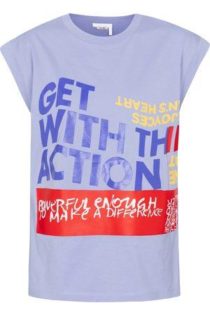 Chloé Dames Shirts - Printed cotton-jersey T-shirt