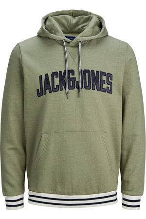 Jack & Jones Logo Kangaroo Pocket Hoodie Heren Green