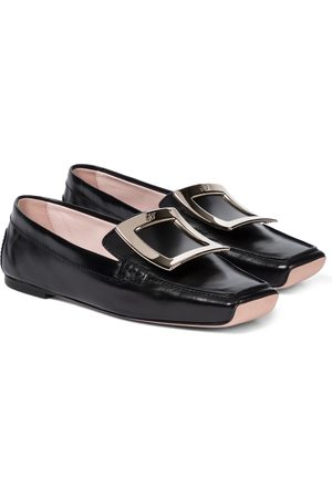 Roger Vivier Viv' Driver leather loafers