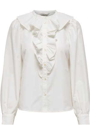 Only Ruches Overhemd Dames White