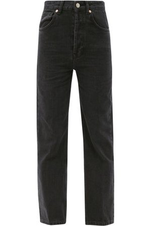 Raey Dames Straight - Find Straight-leg Jeans - Womens - Black