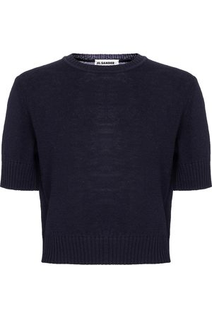 Jil Sander Cropped wool sweater