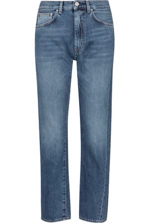 Totême Mid-rise twisted-seam straight jeans