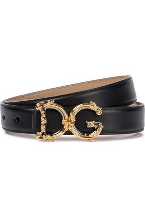 Dolce & Gabbana Monogram leather belt