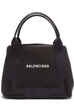Balenciaga Dames Shoppers - Cabas S Logo-print Leather-print Canvas Tote Bag - Womens - Black