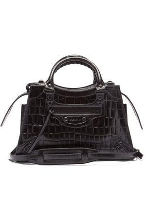 Balenciaga Dames Handtassen - Neo Classic City Crocodile-effect Leather Bag - Womens - Black