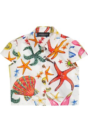 VERSACE Printed cotton shirt