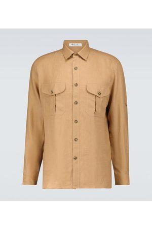 Loro Piana Harry linen twill shirt