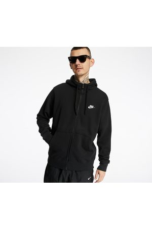 Nike Heren Sweaters - Sportswear Club Hoodie FZ Ft Black/ Black/ White