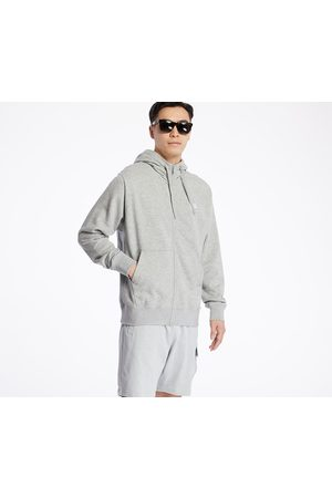 Nike Sportswear Club Full Zip Hoodie Dk Grey Heather/ Matte Silver/ White