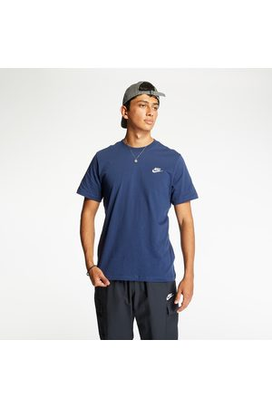 Nike Heren Sportshirts - Sportswear Club Tee Midnight Navy