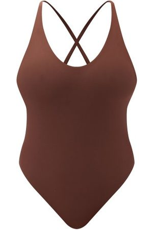 Jade Swim Dames Badpakken - Mila Cross-strap Swimsuit - Womens - Brown