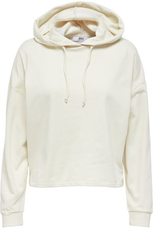 Only Dames Sweaters - Solid Colored Hoodie Dames Grijs
