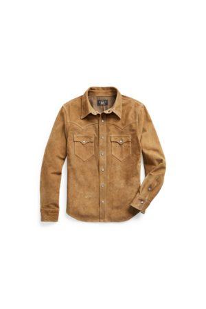 RRL Suede Western Shirt Jacket