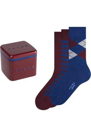 Falke Heren Sokken & Kousen - Happy box 3-pack mix blauw & rood