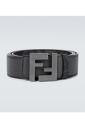 Fendi Reversible leather FF buckle belt