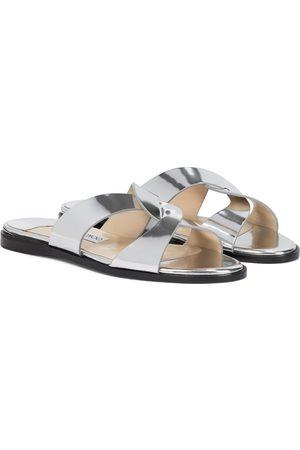 Jimmy Choo Atia metallic leather sandals