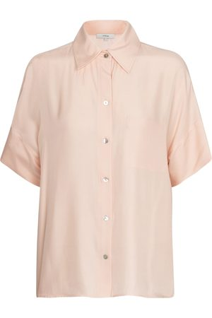 Vince Dames Shirts - Silk-blend shirt