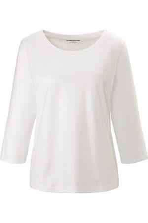 Green Cotton Dames Shirts - Shirt 100% katoen ronde hals en 3/4-mouwen Van