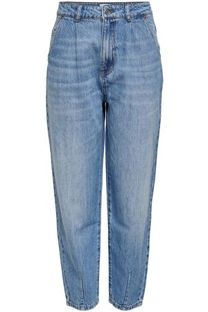 Only Onlverna Life Ballon Hw Straight Fit Jeans Dames Blauw