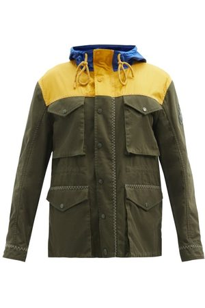 1 MONCLER JW ANDERSON Leyton Colour-block Canvas Parka Jacket - Mens - Brown