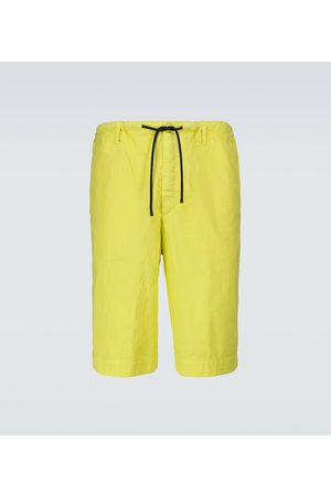 DRIES VAN NOTEN Wide-leg cotton shorts