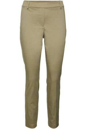 Vero Moda Normal Waist Trousers Dames Green