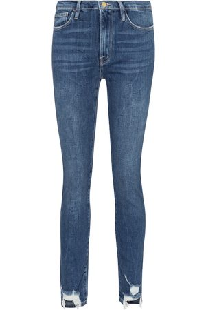 Frame High-rise distressed jeans