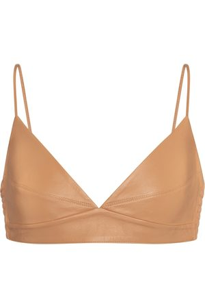 Zeynep Arcay Leather bralette