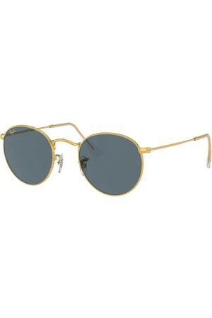Ray-Ban Heren Zonnebrillen - Ray-Ban Round Metal RB3447-9196R5-50