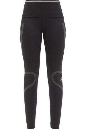 adidas Truepace Reflective-tape High-rise Jersey Leggings - Womens - Black