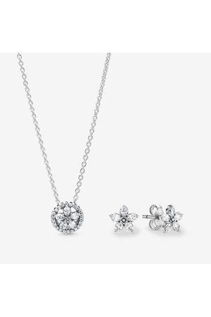 PANDORA Dames Kettingen - Sprankelende Bloemen Cadeauset, Cubic Zirconia, , B84000