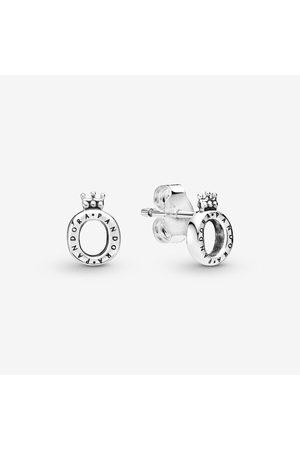 Pandora Dames Oorbellen - Gepolijste Kroon O Oorknopjes, Sieraden uit Sterling zilver, No stone, No color, 298295