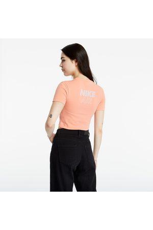 Nike Dames Tops - Sportswear Air Top Crop Crimson Bliss/ White