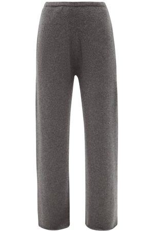 Raey Wide-leg Organic-cashmere Knitted Trousers - Womens - Charcoal