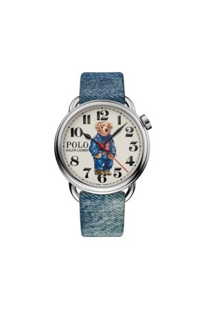 Polo Ralph Lauren Heren Poloshirts - 42 MM Denim Flag Polo Bear Watch