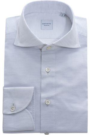 SOC13TY Handmade Heren Overhemden - SOCI3TY Overhemd Heren Lichtgrijs Cotton