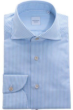 SOC13TY Handmade SOCI3TY Overhemd Heren Lichtblauw Cotton