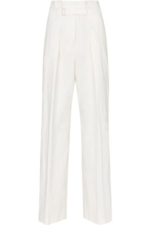 Jil Sander High-rise wide-leg cotton-blend pants