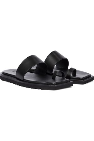 Rick Owens Bevel leather slides