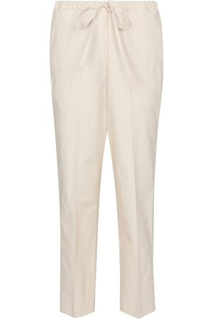 Jil Sander High-rise slim cotton pants