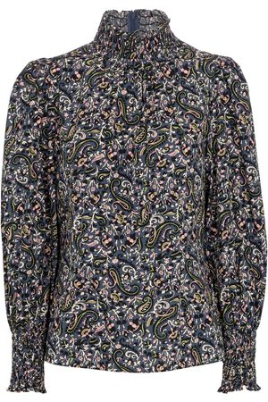 VERONICA BEARD Gaia paisley cotton blouse