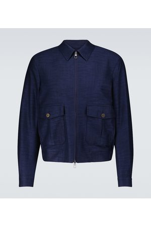 LARDINI Cotton and wool blouson jacket