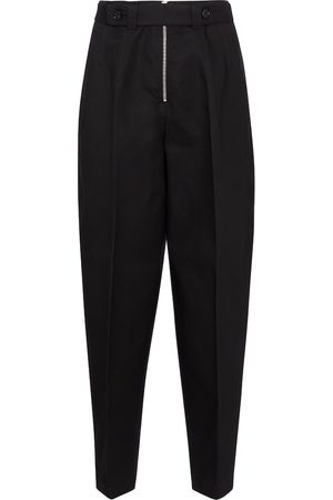 Jil Sander High-rise tapered cotton piqué pants