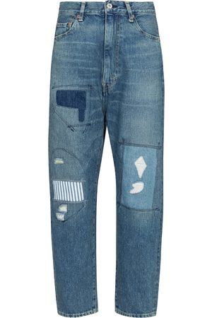 JUNYA WATANABE High-rise patchwork straight jeans