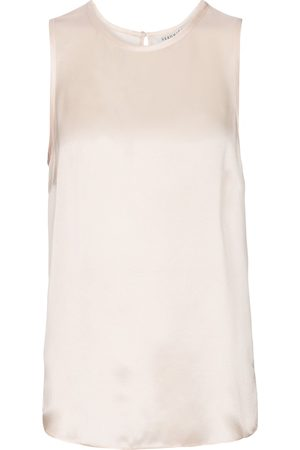 VERONICA BEARD Sakina silk satin tank top